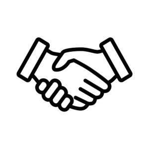 42420326 - business agreement handshake line art icon for apps and websites
